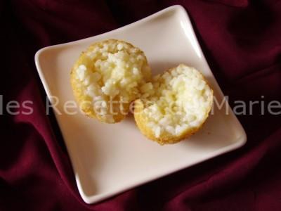 boulettes de riz ouverte